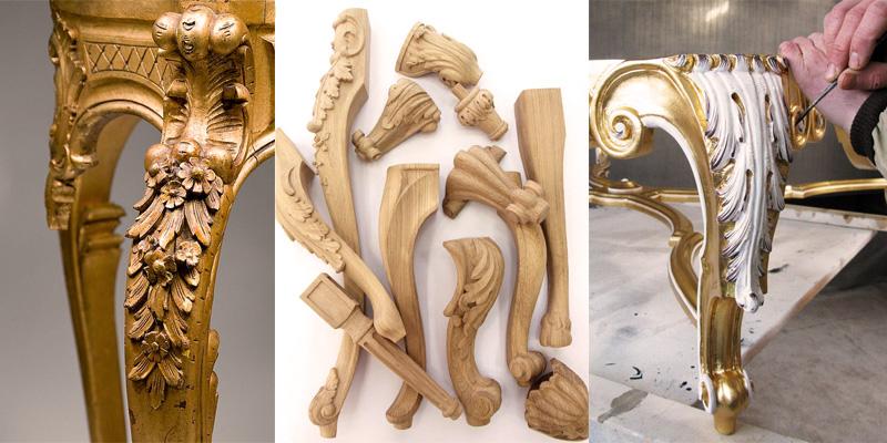 Деревянные ножки для мебели, стола, шкафа или комода