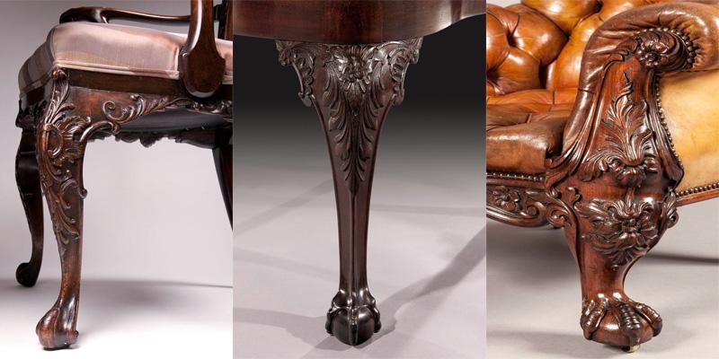 Мебельные ножки из натурального дерева