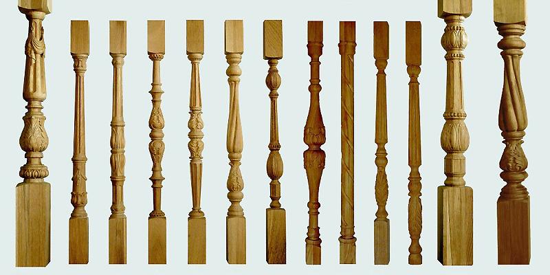 Деревянные балясины и столбы для лестницы